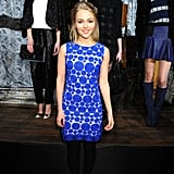 Also in attendance at Alice + Olivia was The Carrie Diaries actress AnnaSophia Robb, who wore a bright blue dotted dress with red pumps.