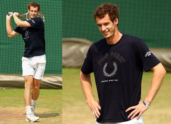 Photos of Andy Murray at Wimbledon Ahead of Semi-Final Match Agasint Andy Roddick