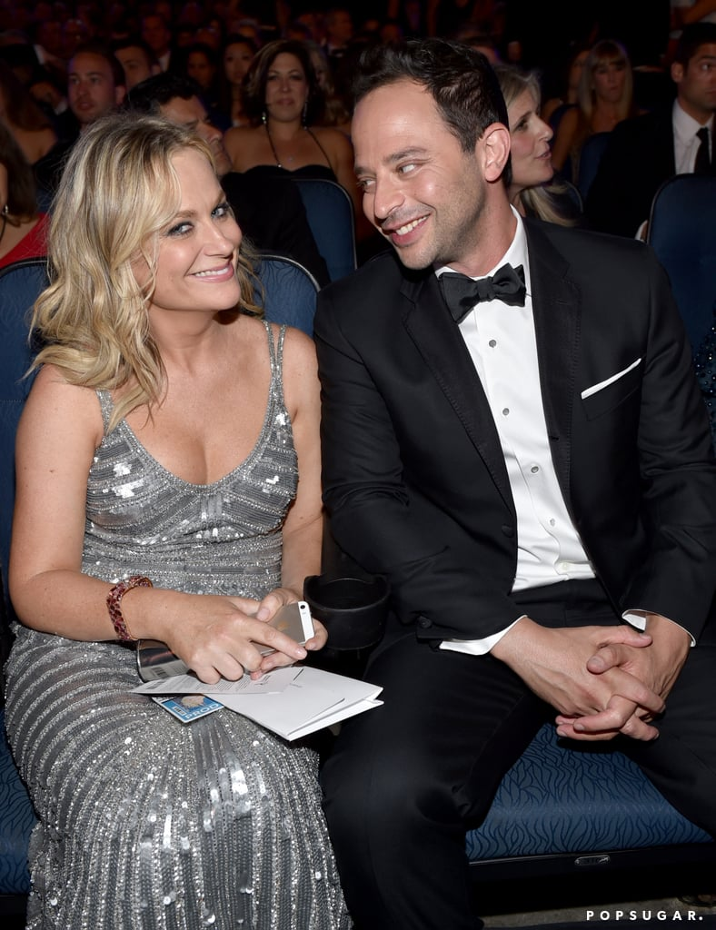 Funny couple Amy Poehler and Nick Kroll sat together in the audience.