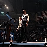 In a last push, the Romneys took the stage together in Manchester, NH.