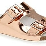 Topshop Metallic Slide Sandals