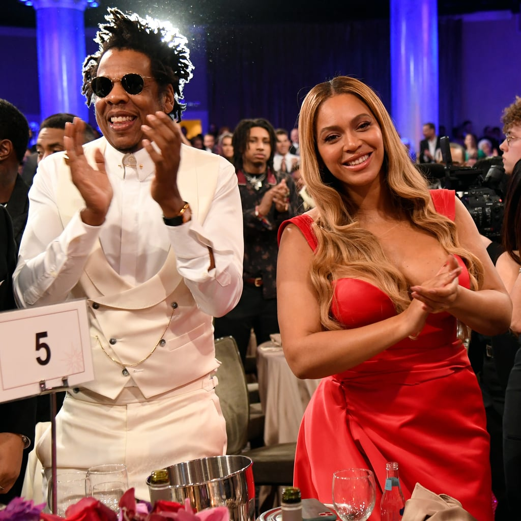 Beyoncé Wears Valdrin Sahiti Dress to Clive Davis Gala