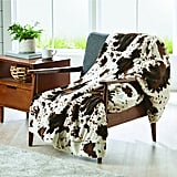 Better Homes and Gardens Cowhide Faux Fur Throw Blanket