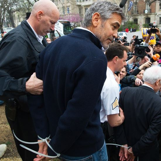 George Clooney Getting Arrested Video