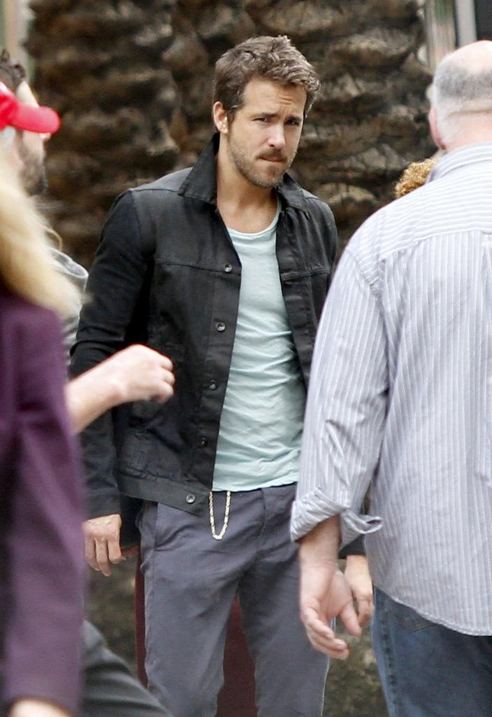 Blake Lively Reunites With Ryan Reynolds on Set