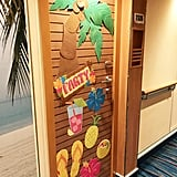 Guests are allowed to decorate their doors.