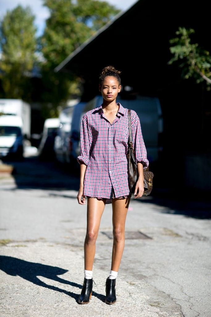 Best Model Street Style At Fashion Week Spring 2016 Popsugar Fashion