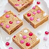 Valentine Peanut Butter M&M Blondies