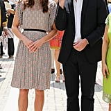 Will and Kate kept close on the second day of their tour of the Far East.