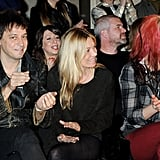 Kate Moss and Jamie Hince were next to Alison Mosshart.