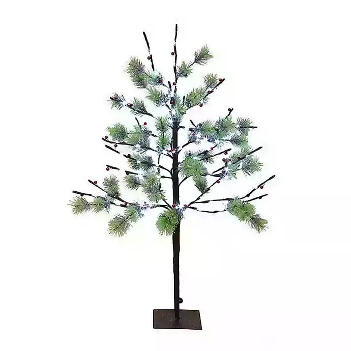 Costco Twinkling Christmas Tree: 3-ft Puleo International Christmas Twig Tree With