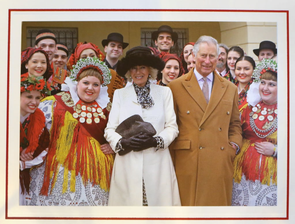 "The British royal Christmas card is here, and it's lovely. It features a beautiful photo of Prince Charles and Camilla, Duchess of Cornwall meeting with local performers in Tvrda from when they toured Croatia back in March. Along with the sweet photo, the couple wrote, ""Wishing you a very Happy Christmas and New Year."" Check it out above!      Related:                                                                                                           29 Reasons We Love Royal Christmas Cards"