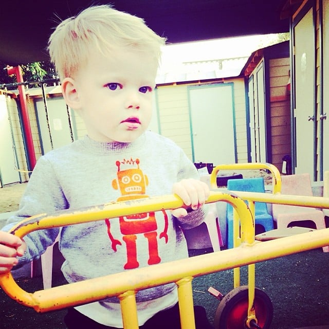 Hilary Duff was missing little Luca Comrie this week.  Source: Instagram user hilaryduff