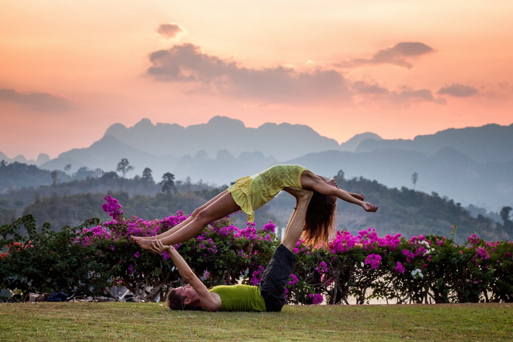 Do some yoga outdoors. Extra points if you bring friends along!
