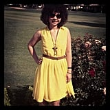 Associate editor Chi showed off her sunny H&M look at Coachella.