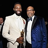Pictured: Tarell Alvin McCraney and Samuel L. Jackson