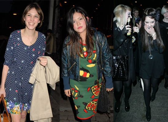 Alexa Chung, Lovefoxx and Peaches Geldof at Uniqlo Party