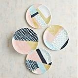 Geometric Modern Salad Plate Set