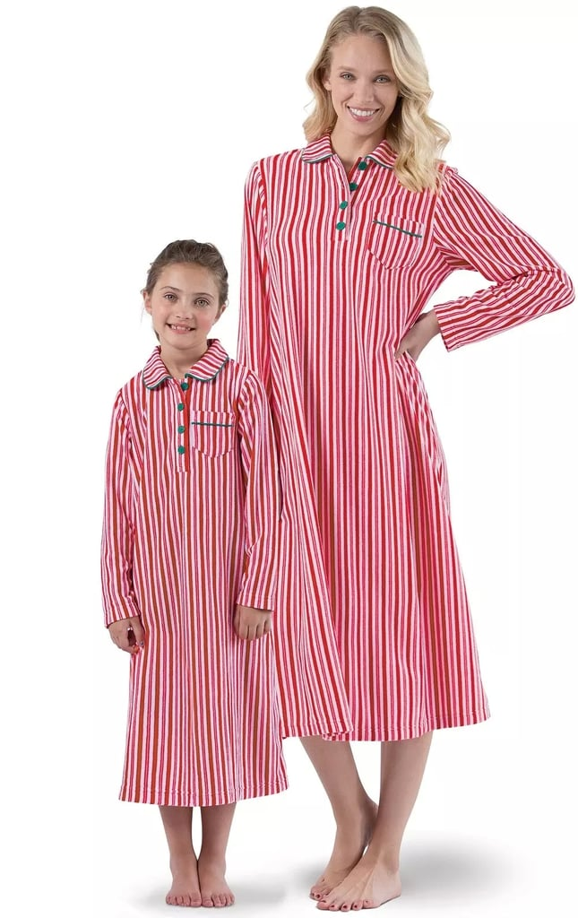 Candy Cane Fleece Mommy & Me Matching Nighties