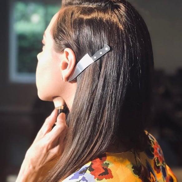 Aubrey Plaza Knife Hair Clip