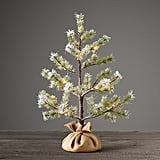 Faux Norway Pine Starlit Flocked 2' Tree ($59, originally $59)