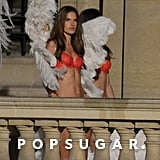 Alessandra Ambrosio wore fluffy angel wings.