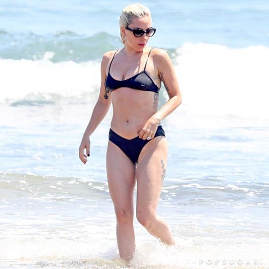 Lady Gaga Black Bikini Hamptons 2018