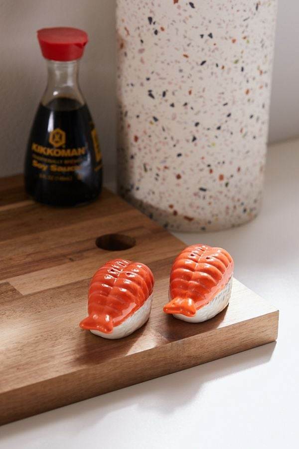 Sushi Shaped Salt and Pepper Shaker Set