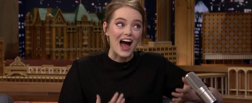 Emma Stone Talks Leonardo DiCaprio on The Tonight Show 2018