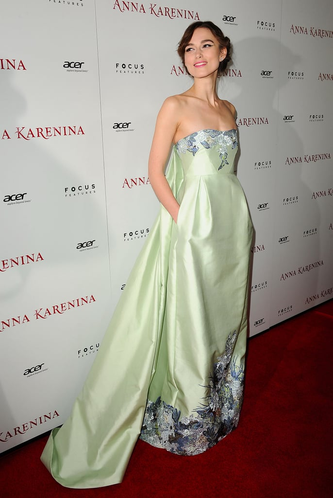 Keira Knightley Wearing a Dress With Pockets