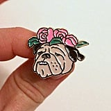 Frida Kahlo Bulldog Pin