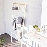 Yamazaki Leaning Storage Ladder Hanger and Shelf