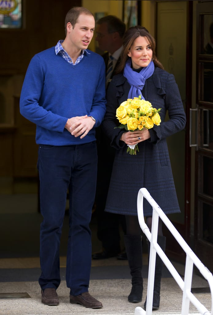 After being admitted to the King Edward VII Hospital for acute morning sickness, Kate Middleton got picked up by Prince William to go home in December 2012.