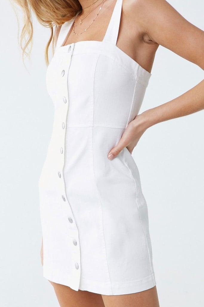 Forever 21 Denim Button-Front Dress