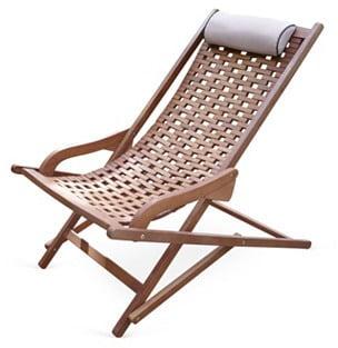 Eucalyptus Outdoor Swing Lounger ($300)