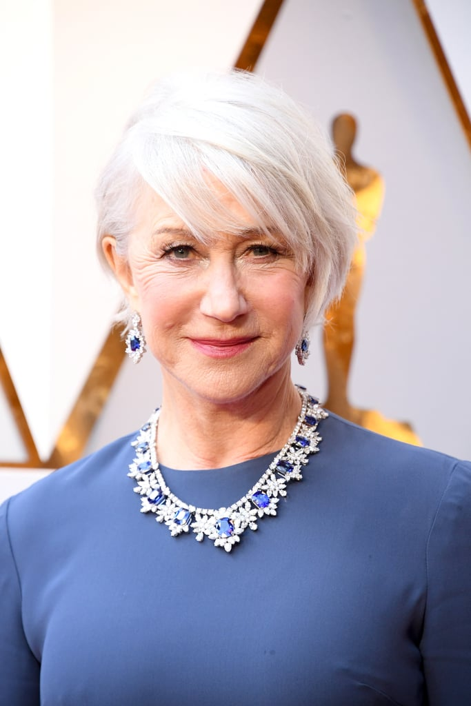 Helen Mirren Celebrity Hair And Makeup At The 2018