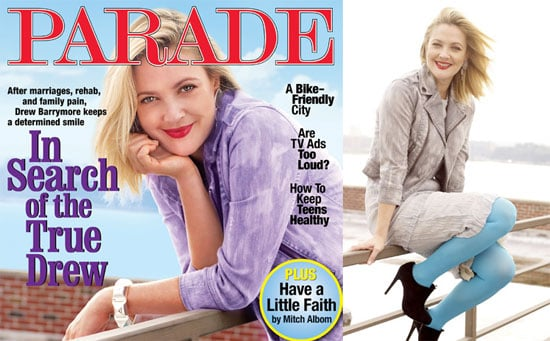 Drew Barrymore on the Cover of PARADE Magazine