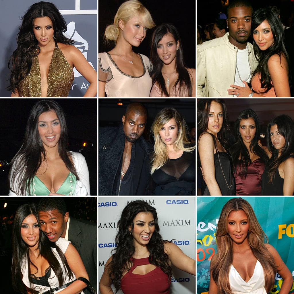 kim kardashian over the years pictures popsugar celebrity