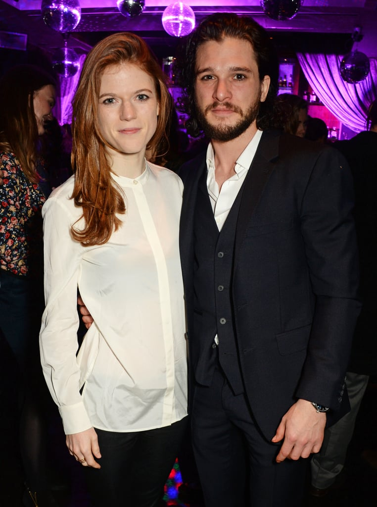 Kit Harington and Rose Leslie Together in London April 2016