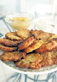 Healthier Potato Latkes