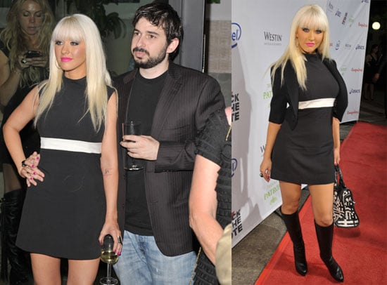 Photos of Christina Aguilera and Jordan Bratman At Rock The Vote Party At Esquire House