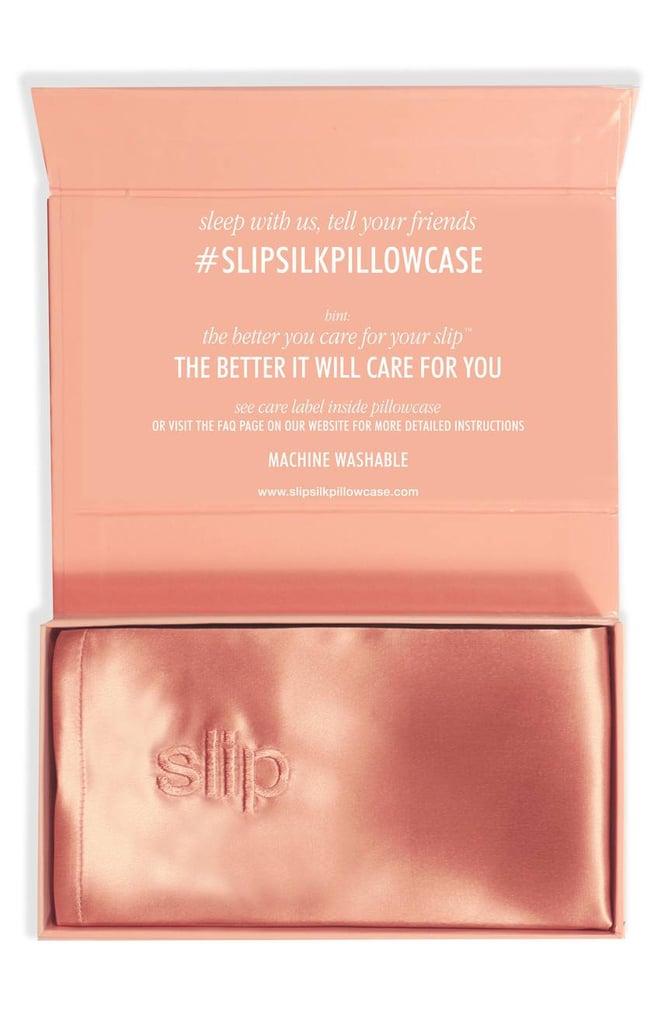 Slip Pillowcase Review Beauteous Slip Silk Pillowcase Peach Slip Pillowcase Review POPSUGAR