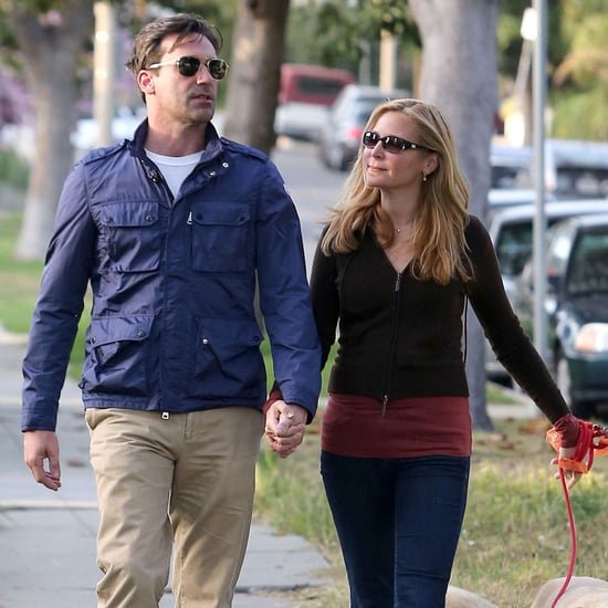 Jon Hamm and Girlfriend Jennifer Westfeldt Holding Hands