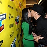 Matthew McConaughey smacked one on Camila Alves at a March 2012 event in Austin.