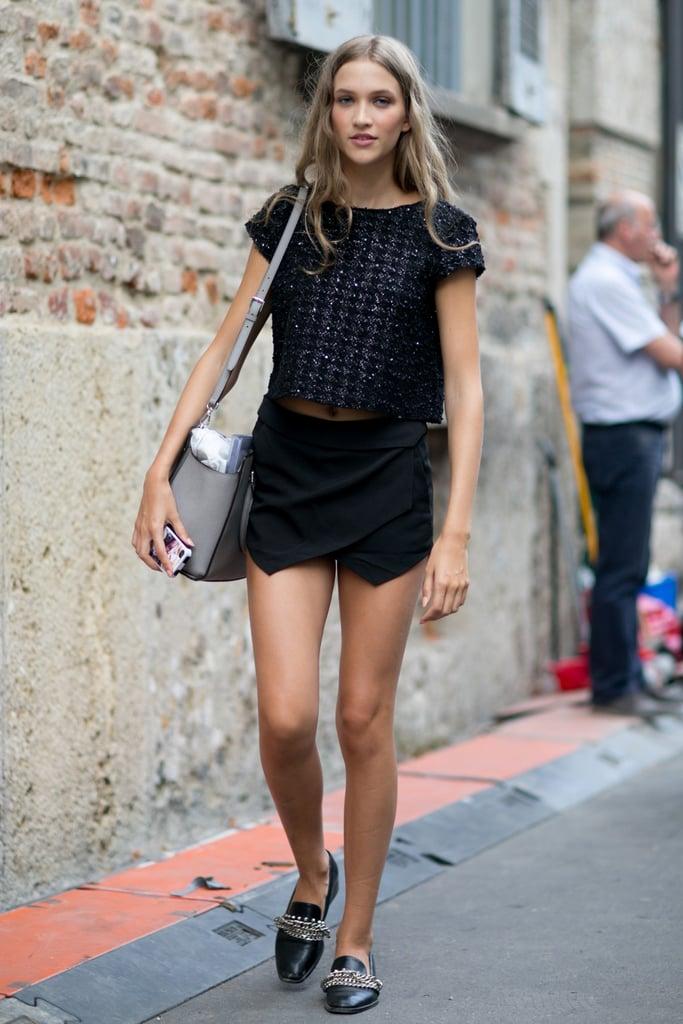 Milan Fashion Week Model Street Style At Fashion Week Spring 2015 Popsugar Fashion Photo 114