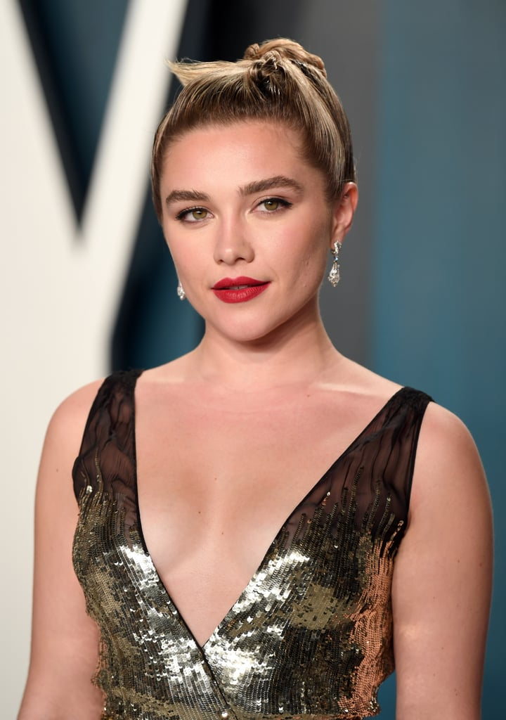 Florence Pugh at the Vanity Fair Oscars Party in 2020