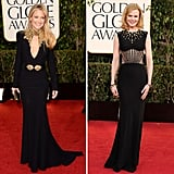 Some stars arrived in dresses by the same designer. Who do you think wore the designs best?