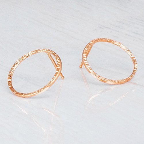 Tooliks Rose Gold Circle Earrings