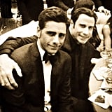 """With what might be the best caption of the night, John Stamos posted this picture next to John Travolta: """"That's cool baby, you know how it is, rockin' , and rollin', and what not."""" Source: Instagram user johnstamos"""