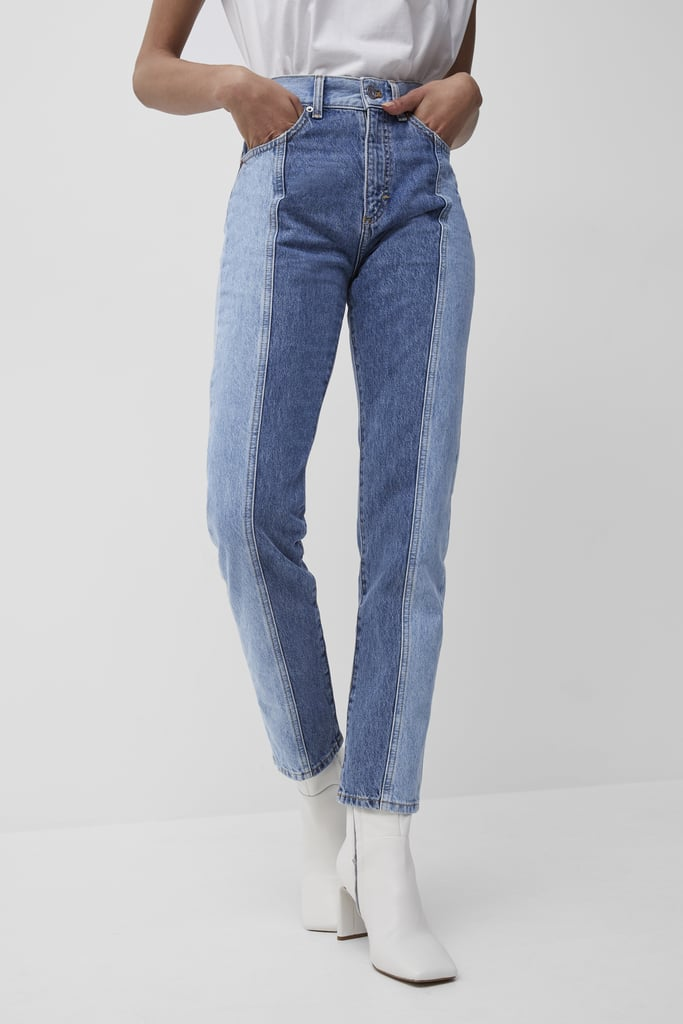 French Connection Palmira Recycled Two Tone Jeans